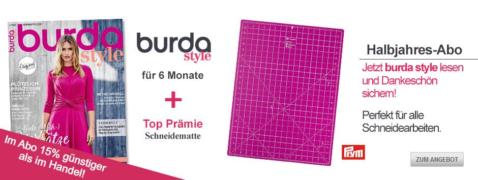Sichern Sie sich jetzt burda style für 6 Monate + Prym Schneidematte