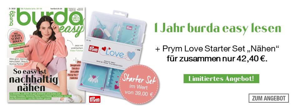 burda easy - 6 Ausgaben + Prym Lover Starter Set Nähen