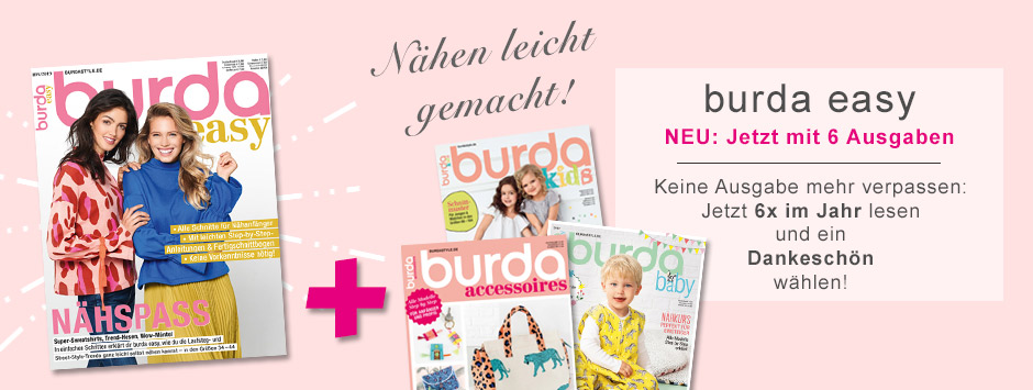 burda easy - Jetzt mit 6 Ausgaben!