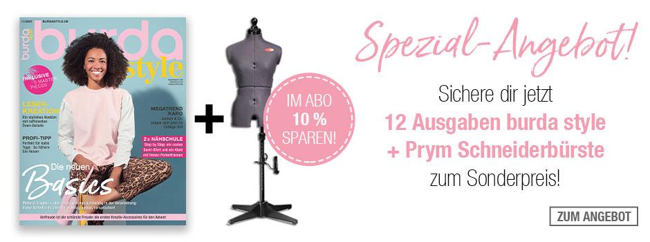 burda style - Jahresabo + Prym Schneiderbürste