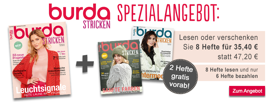 burda stricken - 8 für 6 Spezialangebot April 2020
