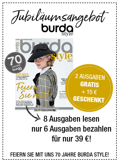 burda style - 8 Ausgaben lesen, 6 bezahlen 09/20