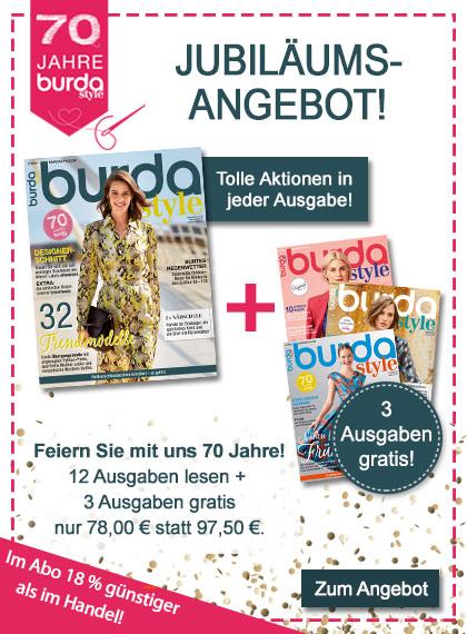 burda style Jubiläum Jahresabo + 3 Ausgaben gratis