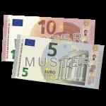 Verrechnungsscheck 15 €