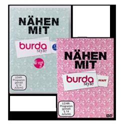 DVD-Set 'Nähen mit burda style, Teil 1 + 2